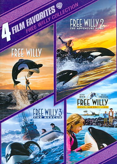 4 FILM FAVORITES:FREE WILLY 1-4 BY RICHTER,JASON JAMES (DVD)